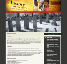 Written in Stone Lesson Plan