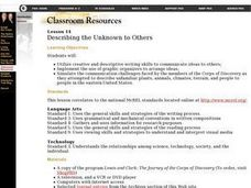 Describing the Unknown to Others Lesson Plan