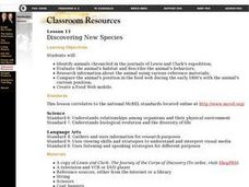 Discovering New Species Lesson Plan
