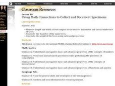 Using Math Concepts to Collect and Document Specimens Lesson Plan