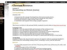 Documenting an Historic Journey Lesson Plan