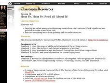 Hear Ye, Hear Ye: Read All About It! Lesson Plan