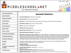 Baseball Statistics Lesson Plan