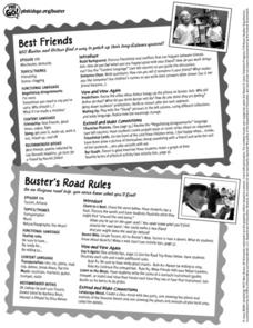 PBS Kids Go Buster Best Friends/ Buster's Road Rules Lesson Plan