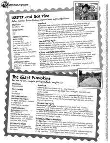PBS Kids Go Buster Buster and Beatrice/ The Giant Pumpkins Lesson Plan