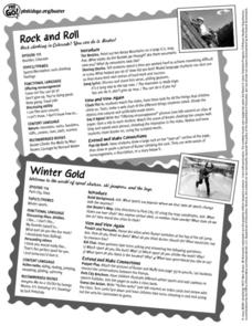 Rock and Roll/ Winter Gold Lesson Plan