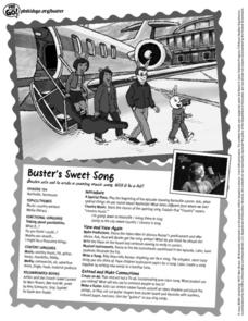 PBS Kids Go Buster- Buster's Sweet Song Lesson Plan