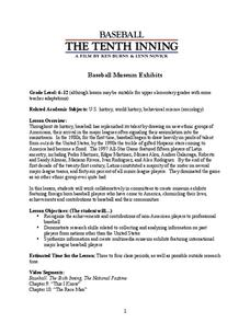 Baseball: The Tenth Inning  Lesson Plan