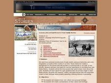 Record and Preserve Your Family Stories Lesson Plan