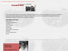 Freedom Now Lesson Plan