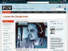 Lomax the Songhunter Lesson Plan