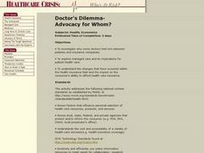 Doctor's Dilemma: Advocacy for Whom? Lesson Plan