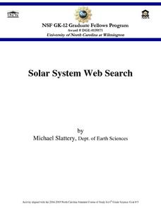 Solar System Web Search Lesson Plan