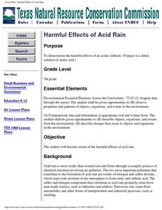 Harmful Effects of Acid Rain Lesson Plan