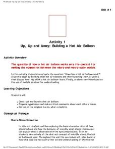 Activity 1 Up, Up, and Away: Building a Hot Air Balloon Lesson Plan