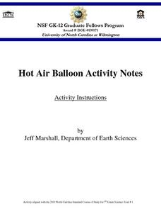 Hot Air Balloon Activity Notes Lesson Plan