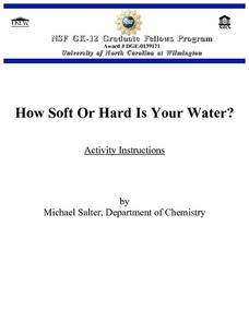 How Soft or Hard is Your Water? Lesson Plan