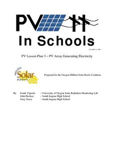 PV Array Generating Electricity Lesson Plan