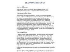 Learning the Lines Lesson Plan