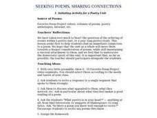 Seeking Poems, Sharing Connections Lesson Plan