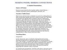 Seeking Poems, Sharing Connections:  Student Presentations Lesson Plan
