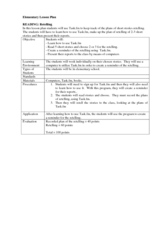 Retelling Stories Lesson Plan