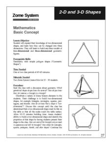 2-D and 3-D Shapes Lesson Plan