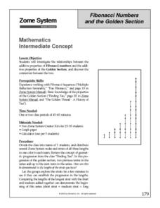 Fibonacci Numbers and the Golden Section Lesson Plan