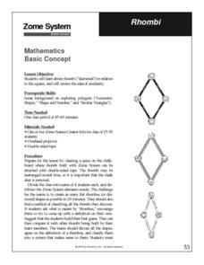 Rhombi Lesson Plan