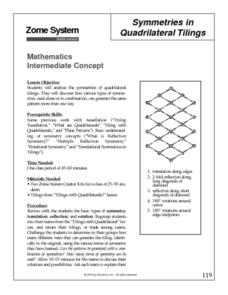 Symmetries in Quadrilateral Tilings Lesson Plan