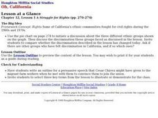 Houghton Mifflin Social Studies/Chapter 12, Lesson 1 A Struggle for Rights (pp. 270-274) Lesson Plan
