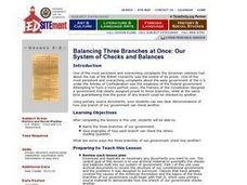 Our System of Checks and Balances Lesson Plan