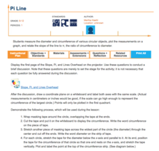 Pi Line Lesson Plan