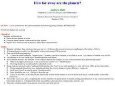 How Far Away Are the Planets? Lesson Plan