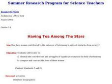 Having Tea Among The Stars Lesson Plan