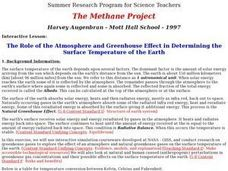 The Role of the Atmosphere and Greenhouse Effect in Determining the Surface Temperature of the Earth Lesson Plan