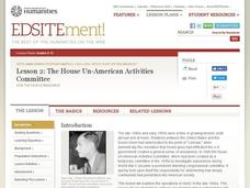 The House Un-American Activities Committee Lesson Plan