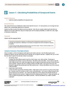 Calculating Probabilities of Compound Events Lesson Plan