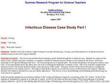 Infectious Disease Case Study Part I Lesson Plan