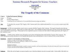 The Tragedy of the Commons Lesson Plan