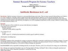 Antibiotic Resistance in E. coli Lesson Plan