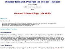 General Microbiology Lab Skills Lesson Plan