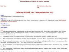 Defining Health in a Comprehensive Way Lesson Plan