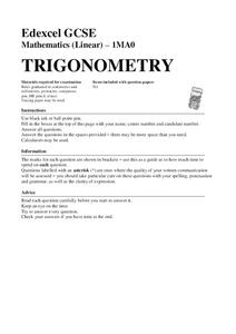 Trigonometry Assessment