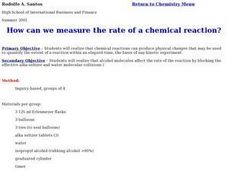 How Can we Measure the Rate of a Chemical Reaction? Lesson Plan