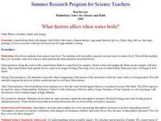 "What Factors Affect When Water Boils"" Lesson Plan"