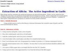 Extraction of Allicin: The Active Ingredient in Garlic Lesson Plan