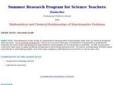 Mathematical and Chemical Relationships of Stoichiometric Problems Lesson Plan