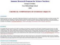 Chemical Composition of Everyday Objects Lesson Plan