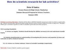How Do Scientists Research For Lab Activities? Lesson Plan